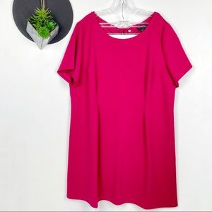 Lane Byrant Short Sleeve Magenta Pink Tee Dress 2x